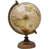 "Rotating décoratif Earth Globe Beige Ocean World Géographie Home Decor 13"""