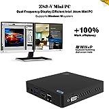 Mini PC Windows-KODLIX Z83-V Desktop PC Win10/4K mit Intel Atom CPU 1,92 GHz, 2M Cache, DDR3 2GB / 32GB, 1000Mbps LAN,USB 3.0, 2*USB 2.0, SD, 2.4G/5.8G WiFi, Bluetooth 4.0, unterstützt Dual Frequency Display, HDMI und VGA Port