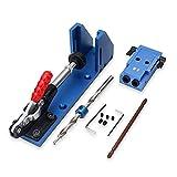 MARK8SHOP lavorazione del legno strumento Pocket hole Jig con toggle morsetto e passo trapano