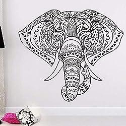 Inicio Decoracion elefante indio Mandala hippie, arte de la pared pegatinas de vinilo decoracion del hogar regalo de bodas pegatinas de vinilo Wall Art poster 42x37cm