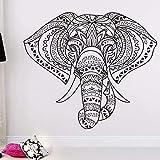 Wohnkultur Indischer Elefant Wandaufkleber Mandala Wandkunst Vinyl Aufkleber Wohnkultur Vinyl Aufkleber A11 65 * 57 CM