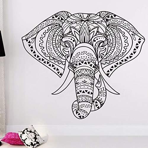 Wohnkultur Indischer Elefant Wandaufkleber Mandala Wandkunst Vinyl Aufkleber Wohnkultur Vinyl Aufkleber A2 57 * 50 CM - Keramische Wand-panel