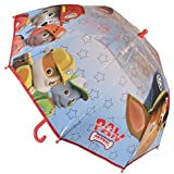 Paraguas Paw Patrol Patrulla Canina Manual Burbuja 46 cm