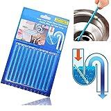 Detergente per tubo tubi di scarico, Essort doccia pavimento di deodorante stick, 5 di colore 5 sapore, 12PCS 1 Set Blu