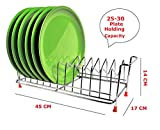 #7: Steel Plate Stand | Dish Rack | Dish Holder - 45 CM x 17 CM x 14 CM