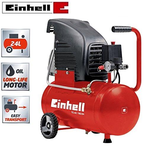 Einhell tc-ac 190/24 compressore d'aria a olio, 24lt.