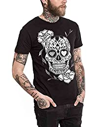 Camiseta Unisex Negra Mexican Skull