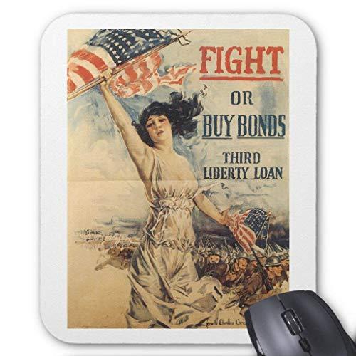 Vintage Buy Liberty Bonds WWI 1917 Mouse Pad 18×22 cm -