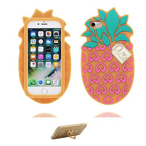 iPhone 7 Custodia, [ Girasole spray 3D Cartoon ] , morbida guarnizione TPU in gomma antigraffio protettiva Case copertura per iPhone 7 4.7 pollice Cover & ring supporto COLOR 2