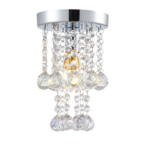 Egomall Luxe lampadario di cristallo camera da letto Interni Luce con Cristalli K9 d15cm lampadario