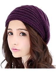 Mujer del sombrero del otoño y del invierno de las lanas del casquillo femenino subsistencia del invierno cálida de lana de sombrero de punto ( Color : C )