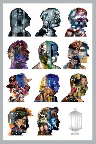 "Empire - Poster di ""Doctor Who"", profili, accessorio incluso multicolore"