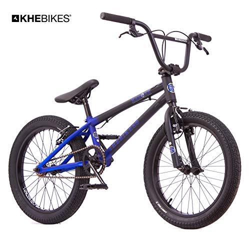 KHE BMX Fahrrad Mad Max patentierter Affix 360° Rotor 20 Zoll schwarz blau nur 11,2kg!