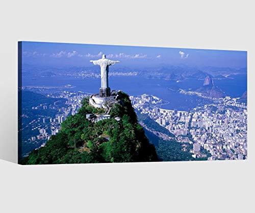 Leinwandbild Leinwand Rio de Janeiro Brasilien Christus Erlöser Hügel Bild Bilder Wandbild Holz Leinwandbilder Kunstdruck vom Hersteller 9AB632, Leinwand Größe 1:80x40cm