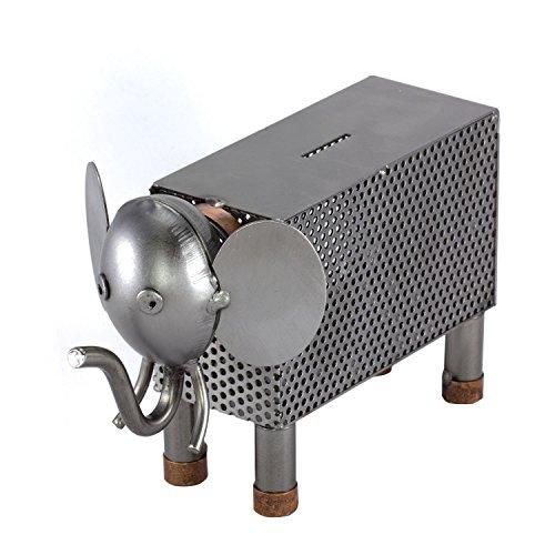 Steelman24 I Schraubenmännchen Elefant Spardose I Made in Germany I Handarbeit I Geschenkidee I Stahlfigur I Metallfigur I Metallmännchen