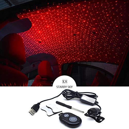Forart Romantische Selbstdach-Stern-Projektor-Lichter, Flexible romantische Galaxie USB-Nachtlampe gepasst alle Autos-Decken-Dekorations-Licht-Innenumgebungsatmosphäre