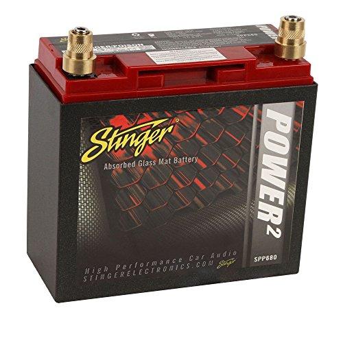 Stinger SPP680   12V Autobatterie   Kapazität: 20Ah   5sec. Startstrom: 680A   CCA: 230A   Typ: AGM   1360W   Inkl. 7,50 EUR Batteriepfand   Ersatz- oder Zweitbatterie