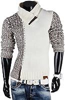 TAZZIO Herren Pullover Grobstrick Sweatshirt Strickjacke