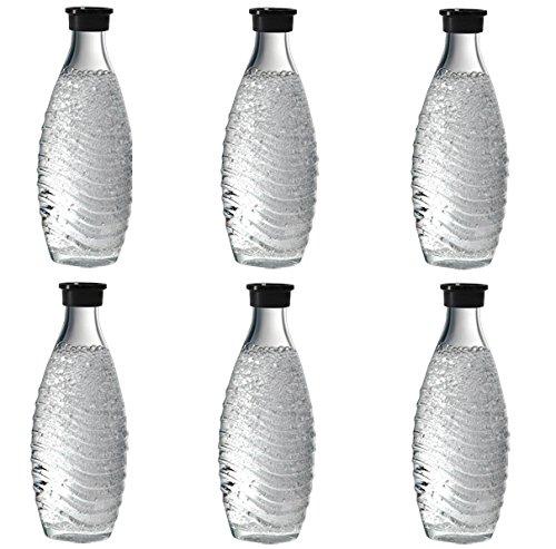 Sodastream Glaskaraffe 3 x 2 = 6 Glaskaraffen Sodastream für Penguin + Crystal