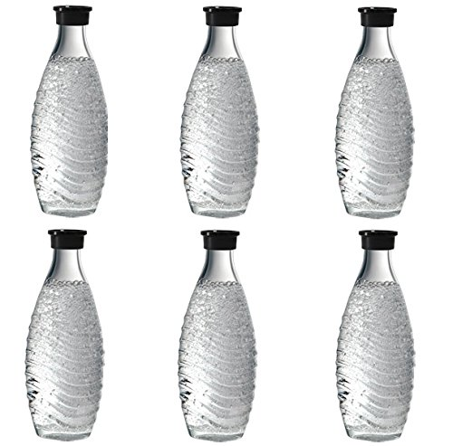 Sodastream Glaskaraffe 3 x 2 = 6 Glaskaraffen Sodastream für Penguin + Crystal Glas Flasche Glas