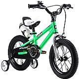 """R-30,48 cm (12"""")""""BMX Freestyle per Bici per Bambini, Colore: Rosso, Verde, Blu e Bianco, con rotelle, Regolabile removaable Free-Borraccia per Bevande Sportive e Supporto"""
