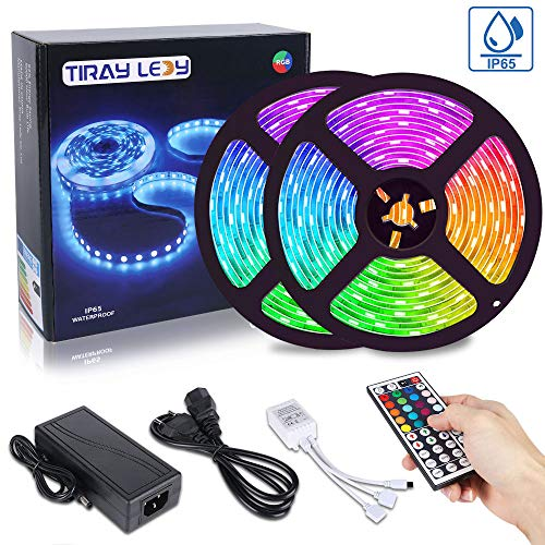 10M Tira LED RGB 5050, Tiray Ledy Flexible Multicolor 300 LEDs Strip...
