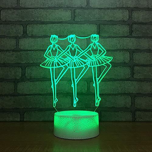Tanz Modell führte Licht Kinderzimmer Dekoration USB Nachtlicht niedlichen Cartoon Kinderspielzeug 3d Lichter (Hot Modelle Niedlichen)