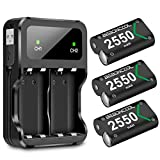 Xbox One Controller Battery Pack, BEBONCOOL 3-Pack 2550mAh Xbox One Controller Rechargeable Battery Packs and Charger Accessory Kit, Xbox Battery for Xbox One/One X/One Elite/One S Controllers