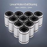 10 Stück LM12UU 12mm Linear Bewegung Kugellager Bewegungs-Buchsen-Kugellager Ball Bearing Bushing