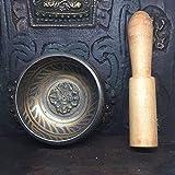 irugh Cuenco de Nepal Tibetano Budista Sonido Bowl-biografía tazón de Fuente Pura, Cobre Budista Transferencia práctica Recipiente Handl de melocotón E