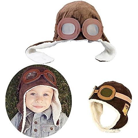 Ewin24 Nuovo Inverno bambino Aviator Earflap pilota Cap-Brown