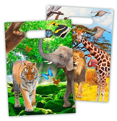 8 Partytüten * Safari & Wilde Tiere * für Party und Geburtstag von FOL (Safari-geburtstags-party Einladungen)