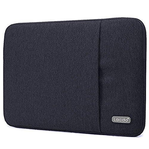 Lacdo 11-12 Zoll Wasserdichte Laptop Sleeve Hüllen Notebook Tasche für MacBook Air 11.6 Zoll/New Macbook/Surface Pro 4 3/Acer, Asus, Dell, HP, Chromebook Ultrabook,Tablet,Schwarz