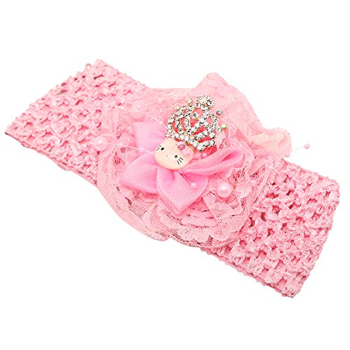 Little Ballerina Princess Crown Pink Headband/Crochet / Hair band For Baby Girls/Kids  available at amazon for Rs.329