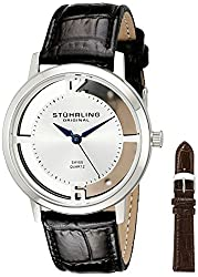 Stuhrling Original Classic Analog Silver Dial Mens Watch - 388G2.SET.01