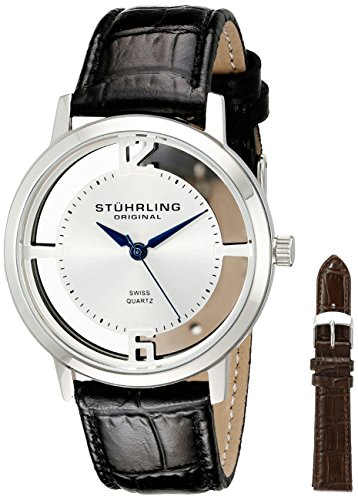 51IW0DHb1mL - Stuhrling Original Classic Silver Mens 388G2.SET.01 watch