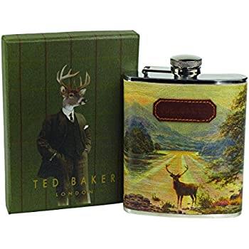 Ted Baker Stag Hip Flask, Multi-Colour