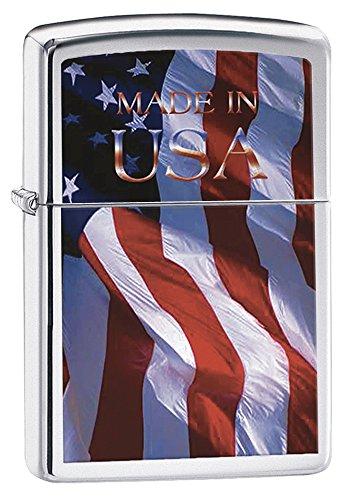 Zippo 2001144 Nr. 200 Made in USA Flag (Zippo Made In Usa Feuerzeug)
