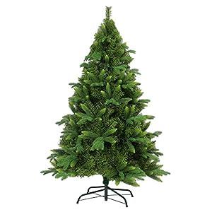 Gifts 4 All Occasions Limited SHATCHI-568 - Árbol de Navidad artificial con 3 puntas diferentes, color verde