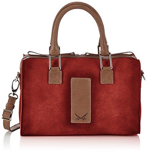 Sansibar - Borsa a mano, Donna Rosso (Rot (Red))