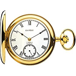 9ct Gold Pocket Watch Polished Full Hunter - 17 Jewel Movement
