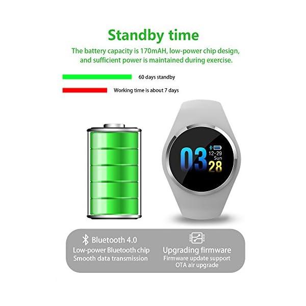 Fitness Reloj de pulsera con pulsómetro resistente al agua IP67Fitness Tracker Actividad tracker Pulso Relojes Bluetooth Smart reloj de pulsera podómetro negro 7