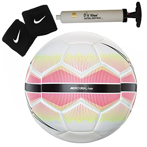 Larjonna Nike Mercurial/Veer replica Pink/whiteFootball. Size-5  available at amazon for Rs.1129