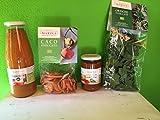 Cesto Regalo con 4 prodotti natalizio confezione cassettina legno inclusa da agricoltura biologica