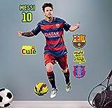 FC Barcelona MessiSticker Mural en Vinyle Motif Football 120x 82cm