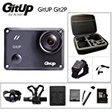 Black, 2P Option2: Original GitUP Git2P Action Camera 2K Wifi Sports DV PRO Full HD 1080P 30m Waterproof Mini Camcorder 1.5 Inch Novatek 96660 Cam