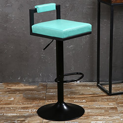 LI JING SHOP - Chaise élévatrice Tabouret à dossier réglable Chaise à manger Retro Paint Rotate Barstool (Couleur : Bleu)