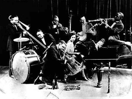 King Olivers creolo 1920s musicista Jazz JazzSign Lebrecht-by-Stampa su tela in carta e decorazioni disponibili, Tela, MEDIUM (51.75 x 39 Inches )