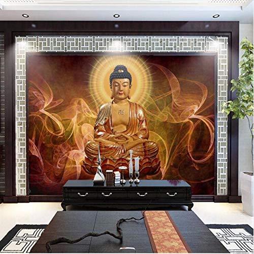 Wuyyii Tapete Benutzerdefinierte Große Wandbild Tapete Hd Großes Bild Tian Tan Buddha Hintergrund Dekorative MalereiC-280X200Cm