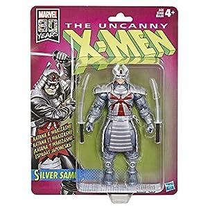 Marvel abanicos Retro de 6 Pulgadas de Escala, colección Samurai de Plata (X-Men) Figura de acción Super Hero Collectible Series, Color sí. (Hasbro)